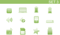 Vector illustration set of elegant simple icons for common computer and media devices functions.Set-3 60016008123  写真素材・ストックフォト・画像・イラスト素材 アマナイメージズ