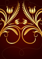 Gold background for design of cards and invitation. Vector 60016008450| 写真素材・ストックフォト・画像・イラスト素材|アマナイメージズ