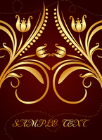 Gold background for design of cards and invitation. Vector 60016008451| 写真素材・ストックフォト・画像・イラスト素材|アマナイメージズ