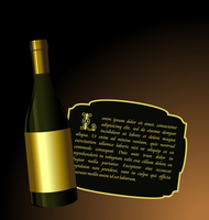 Illustration the elite wine bottle with white gold label for design invitation card - vector 60016008665| 写真素材・ストックフォト・画像・イラスト素材|アマナイメージズ