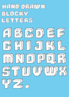 Vector illustration of retro Stylized hand drawn blosky big alphabet letters 60016009117| 写真素材・ストックフォト・画像・イラスト素材|アマナイメージズ