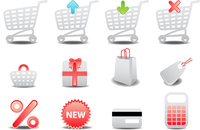 Vector illustration of shopping icons. Suitable for e-commerce, webshop and other network sales. 60016009249| 写真素材・ストックフォト・画像・イラスト素材|アマナイメージズ