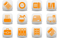 Vector illustration of office equipment icons. You can use it for your website, application or presentation 60016009258| 写真素材・ストックフォト・画像・イラスト素材|アマナイメージズ