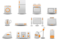 Vector illustration of Household Appliances icons. You can decorate your website, application or presentation with it. 60016009268| 写真素材・ストックフォト・画像・イラスト素材|アマナイメージズ