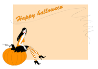 Vector Illustration of  funky invitation to halloween party