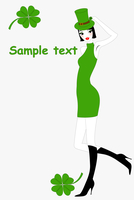 Vector illustration of funky St.Patrick's Day gteeeting card with beautiful sexy girl 60016009531| 写真素材・ストックフォト・画像・イラスト素材|アマナイメージズ