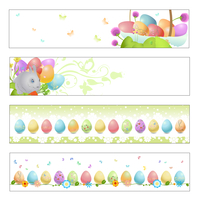 Vector illustration of Colorful easter banners 60016009613| 写真素材・ストックフォト・画像・イラスト素材|アマナイメージズ