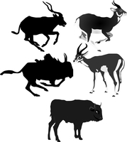 Collection of vector images of antelopes 60016009675| 写真素材・ストックフォト・画像・イラスト素材|アマナイメージズ