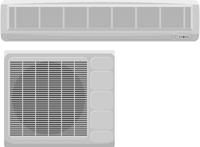Vector illustration of modern air conditioning on a white background 60016009739| 写真素材・ストックフォト・画像・イラスト素材|アマナイメージズ