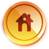 Glossy orange home button 60016010091  写真素材・ストックフォト・画像・イラスト素材 アマナイメージズ