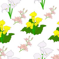 Seamless background with flower . Could be used as seamless wallpaper, textile, wrapping paper or background 60016011111| 写真素材・ストックフォト・画像・イラスト素材|アマナイメージズ