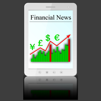 Financial News on white tablet PC computer  isolated on white background. Vector  illustration. 60016011178| 写真素材・ストックフォト・画像・イラスト素材|アマナイメージズ