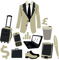 Vector illustration of bussiness man accessories set. 60016012066| 写真素材・ストックフォト・画像・イラスト素材|アマナイメージズ