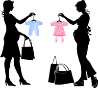 Vector illustration of two pregnant women during the shopping. 60016012076| 写真素材・ストックフォト・画像・イラスト素材|アマナイメージズ