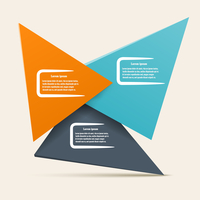 Infographic design with triangles of different colors. Vector illustration for your website. 60016013508| 写真素材・ストックフォト・画像・イラスト素材|アマナイメージズ