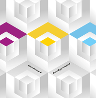 Abstract geometric background with isometric cubes. Book cover 60016016867| 写真素材・ストックフォト・画像・イラスト素材|アマナイメージズ