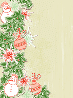 Vector Christmas background with paper decorations 60016020840| 写真素材・ストックフォト・画像・イラスト素材|アマナイメージズ