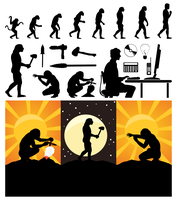 Evolution of the person. Evolution from a monkey to the person. A vector illustration 60016022271| 写真素材・ストックフォト・画像・イラスト素材|アマナイメージズ