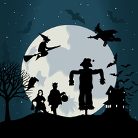 Halloween6. Illustration on a theme of holiday Halloween. A vector illustration