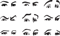 look. Different expression of an eye expressing emotions. A vector illustration 60016023016| 写真素材・ストックフォト・画像・イラスト素材|アマナイメージズ