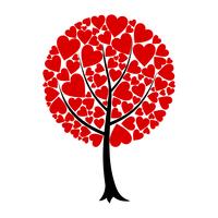 Love tree. Tree of love from red hearts. A vector illustration 60016023068| 写真素材・ストックフォト・画像・イラスト素材|アマナイメージズ