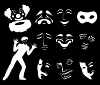 Mask6. Set of icons of masks of fun and grief. A vector illustration 60016023092| 写真素材・ストックフォト・画像・イラスト素材|アマナイメージズ