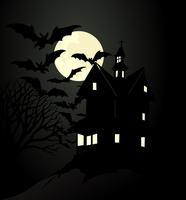 Thrown house. The terrible house under moon light. A vector illustration 60016024314| 写真素材・ストックフォト・画像・イラスト素材|アマナイメージズ