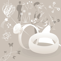 Wedding collection2. Collection on a wedding theme. A vector illustration 60016024494| 写真素材・ストックフォト・画像・イラスト素材|アマナイメージズ