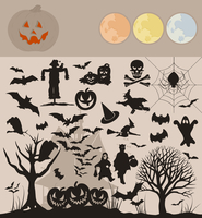 Collection Halloween. Collection on a holiday theme halloween. A vector illustration 60016025543| 写真素材・ストックフォト・画像・イラスト素材|アマナイメージズ