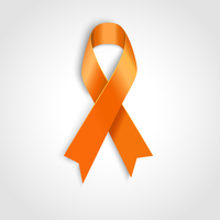 Vector Orange ribbon as symbol of Animal Abuse, leukemia awareness, kidney cancer association 60016026649| 写真素材・ストックフォト・画像・イラスト素材|アマナイメージズ