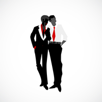 Private discreet conversation in business style vector illustration 60016027194| 写真素材・ストックフォト・画像・イラスト素材|アマナイメージズ