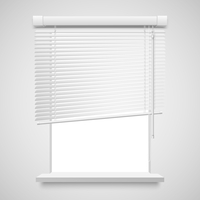 Realistic home related blinds vector illustration isolated on white. 60016027426| 写真素材・ストックフォト・画像・イラスト素材|アマナイメージズ