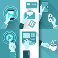 Business hands in action, pay, buy, transfer money vector illustration 60016027482  写真素材・ストックフォト・画像・イラスト素材 アマナイメージズ