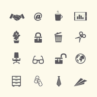 Business stationery supplies internet collection of handshake glasses and tie isolated vector illustration 60016027944  写真素材・ストックフォト・画像・イラスト素材 アマナイメージズ