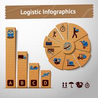 Logistic transportation service cardboard infographics elements for charts and graphs vector illustration 60016028033  写真素材・ストックフォト・画像・イラスト素材 アマナイメージズ