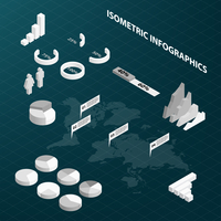 Abstract isometric business infographics design elements charts and graphs vector illustration 60016028173| 写真素材・ストックフォト・画像・イラスト素材|アマナイメージズ
