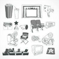 Vintage cinema with retro film reel projector film strip and couple kissing concept poster hand drawn vector illustration 60016028251| 写真素材・ストックフォト・画像・イラスト素材|アマナイメージズ