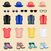 Hipster character pack design elements female girl accessory isolated vector illustration 60016028814| 写真素材・ストックフォト・画像・イラスト素材|アマナイメージズ