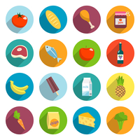 Online supermarket foods flat icons set of meat fish fruits and vegetables isolated vector illustration 60016029164  写真素材・ストックフォト・画像・イラスト素材 アマナイメージズ