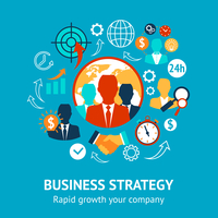 Business and management modern strategy rapid growth of your company concept vector illustration 60016029336  写真素材・ストックフォト・画像・イラスト素材 アマナイメージズ