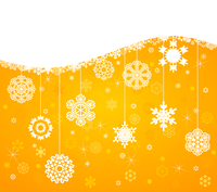 Winter background4. White snowflakes on a yellow background. A vector illustration 60016029607| 写真素材・ストックフォト・画像・イラスト素材|アマナイメージズ