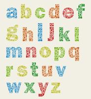 The alphabet on an art theme. A vector illustration 60016029639| 写真素材・ストックフォト・画像・イラスト素材|アマナイメージズ