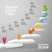Ascending upward staircase uccessful business seven steps concept infographic vector illustration 60016029710| 写真素材・ストックフォト・画像・イラスト素材|アマナイメージズ