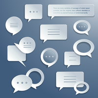 Abstract paper speech bubbles icons set for infographics and presentation templates isolated vector illustration 60016029725| 写真素材・ストックフォト・画像・イラスト素材|アマナイメージズ
