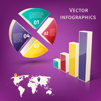 Abstract 3d pie chart columns and map business infographics layout template vector illustration 60016029744| 写真素材・ストックフォト・画像・イラスト素材|アマナイメージズ