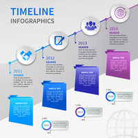 Abstract paper timeline infographics design template with ladder bookmarks and business icons vector illustration 60016029750| 写真素材・ストックフォト・画像・イラスト素材|アマナイメージズ