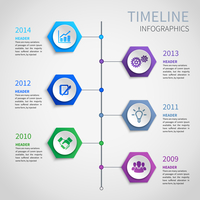 Abstract paper timeline infographics design template with hexagon buttons and business icons vector illustration 60016029754| 写真素材・ストックフォト・画像・イラスト素材|アマナイメージズ