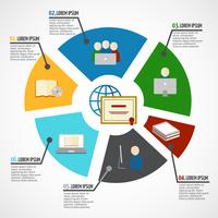 Online education e-learning webinar digital school infographic vector illustration 60016029784| 写真素材・ストックフォト・画像・イラスト素材|アマナイメージズ