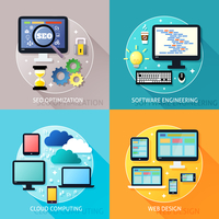 Business process concept of seo optimization software engineering cloud computing and web design icons set vector illustration 60016029814  写真素材・ストックフォト・画像・イラスト素材 アマナイメージズ