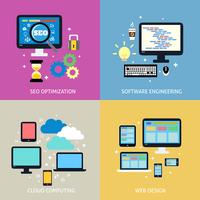 Business process concept of seo optimization programming cloud computing mobile and website design icons set vector illustration 60016029815  写真素材・ストックフォト・画像・イラスト素材 アマナイメージズ